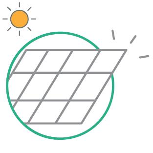 Les panneaux photovoltaïques vont transformer l'énergie solaire en électricité